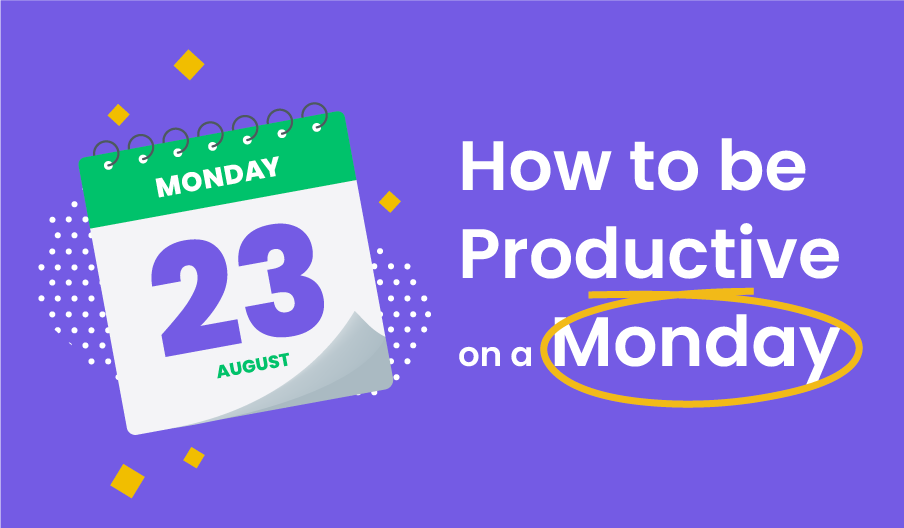 be productive on a Monday blog banner